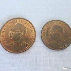 Monedas antiguas de África: GAMBIA 1 Y 5 BUTUTS 1971. Lote 145995546