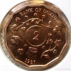 Monedas antiguas de África: UGANDA - 2 SHILLINGS 1987 - DE CARTUCHO - S / C - VISITA MIS OTROS LOTES Y AHORA GASTOS DE ENVÍO. Lote 150490285