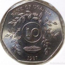 Monedas antiguas de África: UGANDA - 10 SHILLINGS 1987 - DE CARTUCHO - S / C - VISITA MIS OTROS LOTES Y AHORA GASTOS DE ENVÍO. Lote 146651954