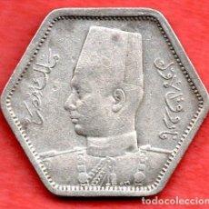 Monedas antiguas de África: EGIPTO - 2 PIASTRAS, 1949. PLATA. Lote 147150470