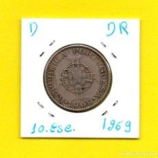 Monedas antiguas de África: ANGOLA PORTUGUESA 10 ESCUDOS 1969 - [D - DR]. Lote 147766046