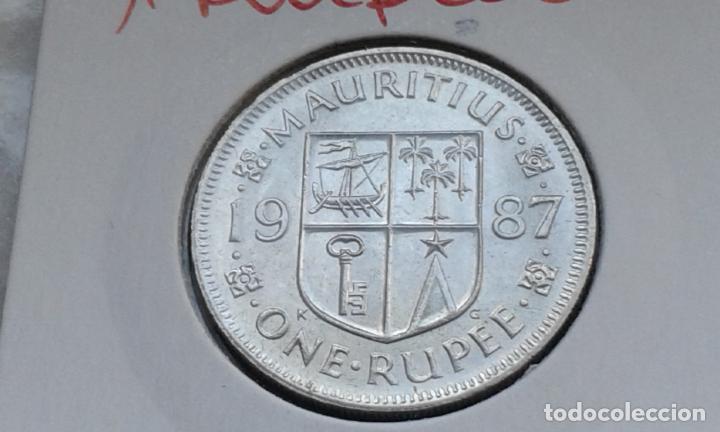 MAURICIO 1 RUPIA 1987 (Numismática - Extranjeras - África)