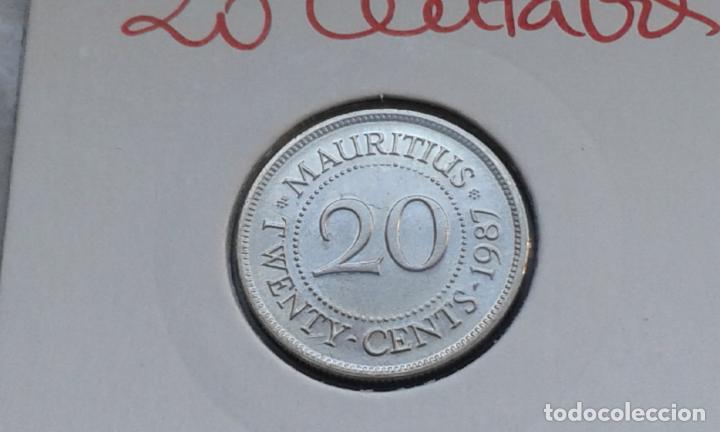 MAURICIO 20 CENTAVOS 1987 (Numismática - Extranjeras - África)
