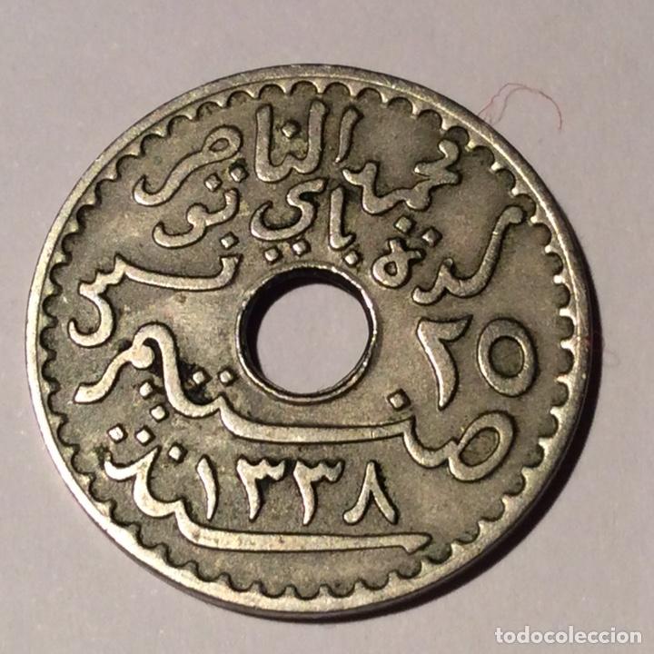 Monedas antiguas de África: Protectorado francés de Túnez lote 2 monedas - Foto 6 - 148623498