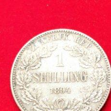 Monedas antiguas de África: MONEDAMPLATA SUDÁFRICA. CHELÍN 1894. MUY ESCASA.. Lote 152585413