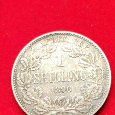 Monedas antiguas de África: MONEDA PLATA SUDÁFRICA. CHELÍN 1896. MUY ESCASA.. Lote 152585500