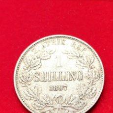 Monedas antiguas de África: MONEDAMPLATA SUDÁFRICA. CHELÍN 1897. MUY ESCASA.. Lote 152585600