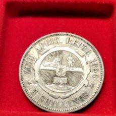 Monedas antiguas de África: MONEDA PLATA SUDÁFRICA. 2 CHELINES 1896. MUY ESCASA, CON TROQUEL.. Lote 152585784