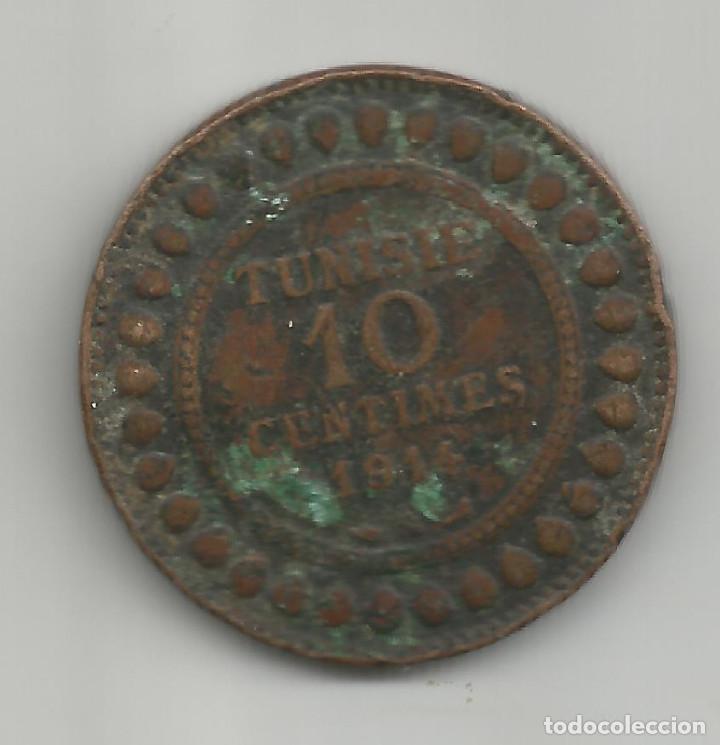 TUNEZ 10 CENTIMOS 1914 KM# 236 BRONCE (Numismática - Extranjeras - África)