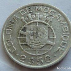 Monedas antiguas de África: MONEDA DE PLATA DE 5 ESCUDOS DE MOZAMBIQUE DE 1960, COLONIA DE PORTUGAL . Lote 154974302