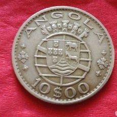 Monedas antiguas de África: 10 ESCUDOS DE ANGOLA 1969. Lote 155119376