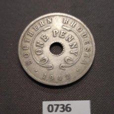 Monedas antiguas de África: RHODESIA 1 PENIQUE 1942. Lote 155160817