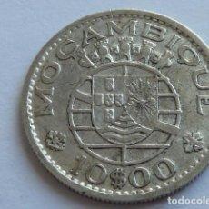 Monedas antiguas de África: MONEDA DE PLATA DE 10 ESCUDOS DE MOZAMBIQUE DE 1955, COLONIA DE PORTUGAL . Lote 155751662