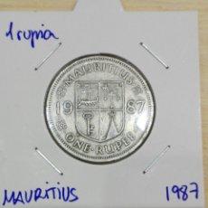 Old Coins of Africa - Moneda Isla Mauricio. 1 rupia 1987. - 157122488