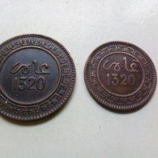 Monedas antiguas de África: MARRUECOS 5 Y 10 MAZUNAS 1320 (1902). Lote 157957306
