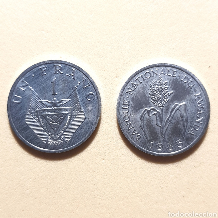 (NM-01) 1 FRANC. 1985. RWANDA. KM#12 (Numismática - Extranjeras - África)