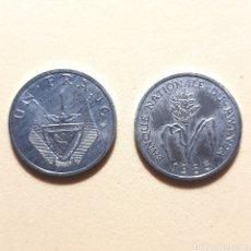 Monedas antiguas de África: (NM-01) 1 FRANC. 1985. RWANDA. KM#12. Lote 158713045