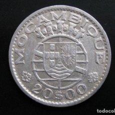 Monedas antiguas de África: MOZAMBIQUE , 20 ESCUDOS 1960 . PLATA. Lote 160228922