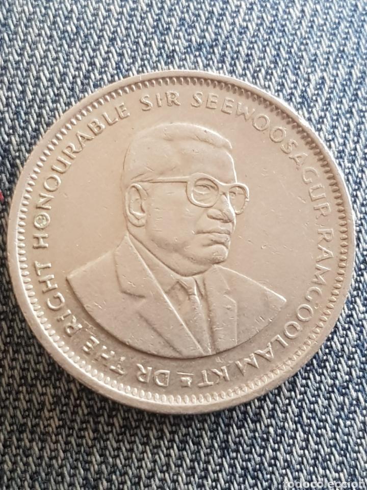 Monedas antiguas de África: One rupia 1994 islas mauricio - Foto 2 - 160578089