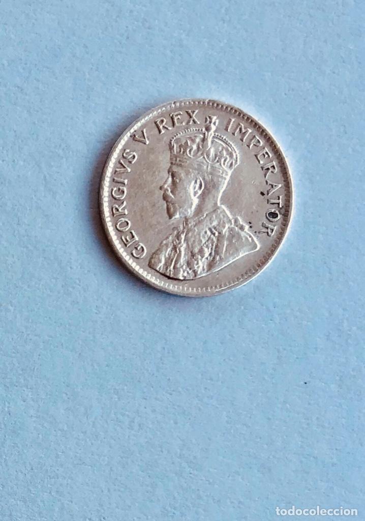 Monedas antiguas de África: 3 Peniques Plata Imperio Británico Sudáfrica 1933 - Foto 2 - 160631190