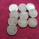 Monedas antiguas de África: SUDÁFRICA. LOTE DE 10 MONEDAS VARIADAS DE 3 PENCE DE PLATA. Lote 160689278