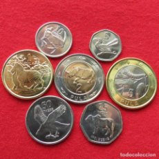 Monedas antiguas de África: BOTSWANA SERIE 5 10 25 50 THEBE 1 2 5 PULA 2013. Lote 195024465