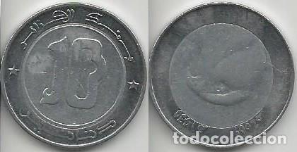 ARGELIA 2009 - 10 DINARS - KM 124 - CIRCULADA (Numismática - Extranjeras - África)