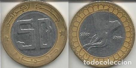 ARGELIA 1992 - 50 DINARS - KM 126 - CIRCULADA (Numismática - Extranjeras - África)
