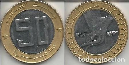 ARGELIA 2009 - 50 DINARS - KM 126 - CIRCULADA (Numismática - Extranjeras - África)