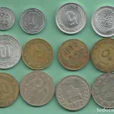 Monedas antiguas de África: ARGELIA. 12 MONEDAS DE 12 MODELOS DIFERENTES. Lote 162498934