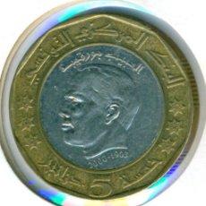 Monedas antiguas de África: TÚNEZ 5 DINAR AH 1423 - 2002 ( BC+ ) KM # 444. Lote 162816426
