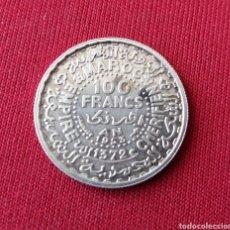 Monedas antiguas de África: MARRUECOS. 100 FRANCOS. 1953. PLATA. Lote 163332252