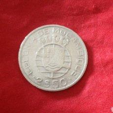 Monedas antiguas de África: 2,5 ESCUDOS DE MOZAMBIQUE 1950. PLATA. Lote 163592464