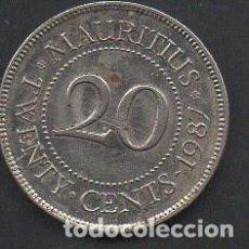 Old Coins of Africa - ISLA MAURICIO, 20 CENTAVOS 1987. MBC - 164999326