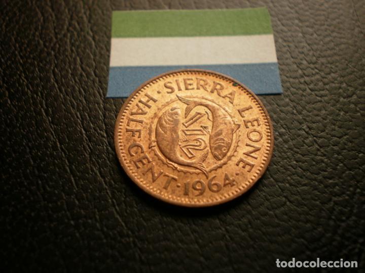 SIERRA LEONA 1/2 CENT 1964 (Numismática - Extranjeras - África)