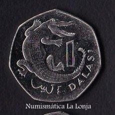 Monedas antiguas de África: GAMBIA 1 DALASI 2014 KM 59A SC UNC. Lote 194367500
