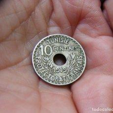 Monedas antiguas de África: TUNEZ-FRANCES MONEDA DE 10 CENTIMOS 1919. Lote 165903698