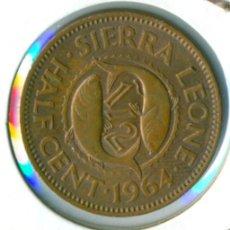 Moedas antigas de África: SIERRA LEONA 1/2 HALF CENTAVO 1964 ( MBC- ) KM # 16. Lote 166671974