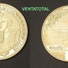 Monedas antiguas de África: MEDALLA ORO TIPO MONEDA HOMENAJE A TUTANKAMON REY FARAON DEL ANTIGUO EGIPTO - PESA 28,20 GRA - Nº1. Lote 167186734