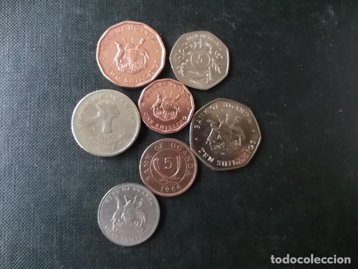 CONJUNTO DE MONEDAS DE UGANDA DIVERSAS EPOCAS (Numismática - Extranjeras - África)
