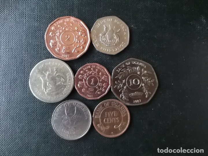 Monedas antiguas de África: conjunto de monedas de Uganda diversas epocas - Foto 2 - 148402606