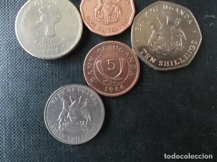 Monedas antiguas de África: conjunto de monedas de Uganda diversas epocas - Foto 4 - 148402606