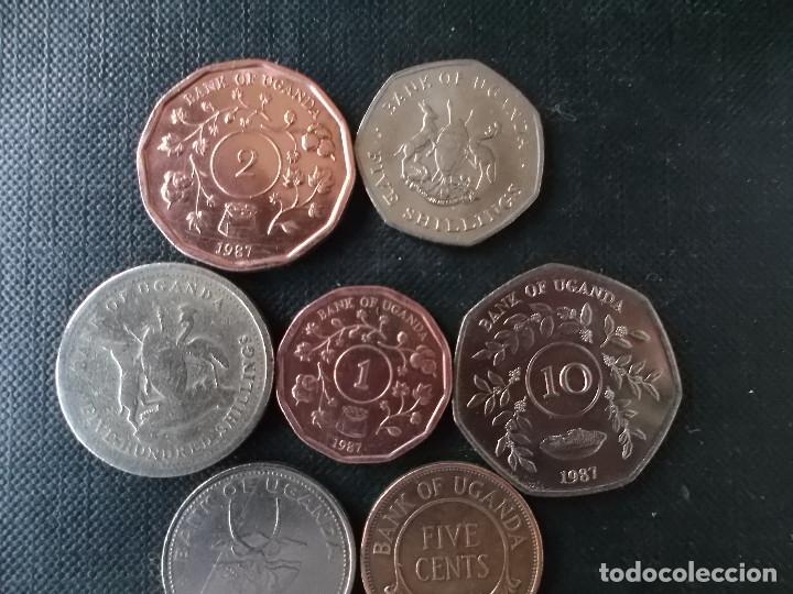 Monedas antiguas de África: conjunto de monedas de Uganda diversas epocas - Foto 5 - 148402606