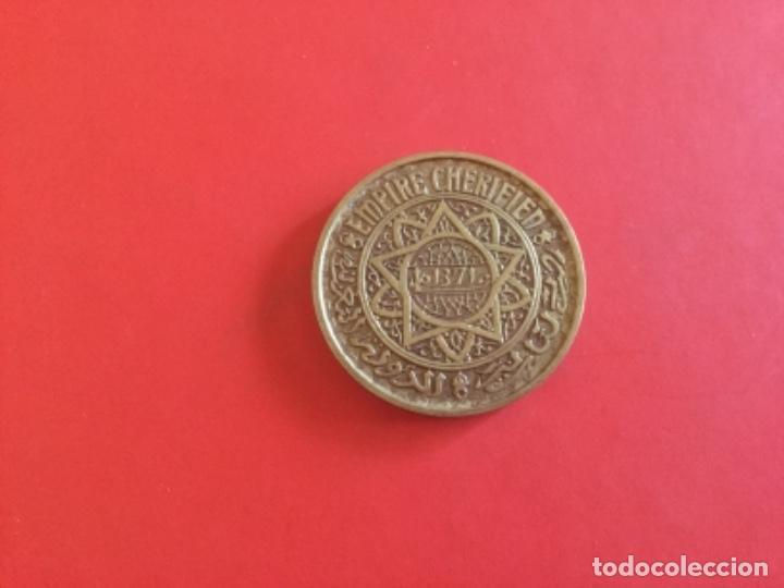 Monedas antiguas de África: Moneda de 50 Francs Marruecos. Empire Cherifien 1371. Protectorado Frances - Foto 2 - 169091600