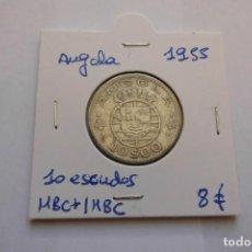 Monedas antiguas de África: ANGOLA 10 ESCUDOS 1955 PLATA. Lote 169563268