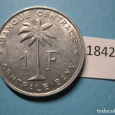 Monedas antiguas de África: CONGO BELGA , 1 FRANCO 1959 . Lote 170126188