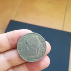 Monedas antiguas de África: MONEDA DE 1 FRANCO DEL CONGO BELGA DEL AÑO 1924.. Lote 170877075