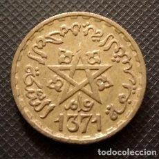 Monedas antiguas de África: MARRUECOS 10 FRANCOS PROTECTORADO FRANCÉS 1371 AH (1952)/PROTECTORAT FRANÇAIS AU MAROC 10 FRANCS. Lote 171374929