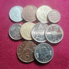 Monedas antiguas de África: TANZANIA, BOTSWANA, GHANA, ETC. 10 MONEDAS DIFERENTES. Lote 172718782