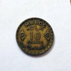Monedas antiguas de África: MARRUECOS.10 FRANCOS PROTECTORADO FRANCÉS 1371 AH (1952). Lote 173470599